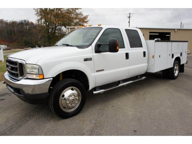 Ford : Other Pickups Crew Cab 200 2003 ford f 450 xlt powerstroke diesel crew cab utility bed work truck nice