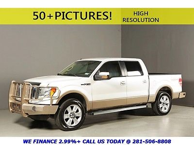 Ford : F-150 2011 LARIAT 4X4 CREW LEATHER HEAT/COOL-SEATS PDC 2011 ford f 150 lariat 4 x 4 crew leather pdc locking diff white tan shortbed 4 wd