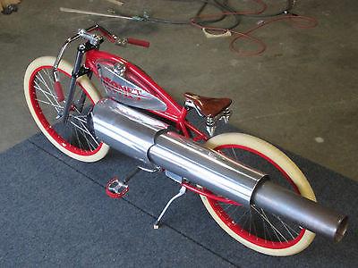 Custom Built Motorcycles : Other Custom Pulsejet Engine powered board track racer, jet engine bike.