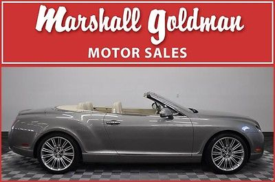 Bentley : Continental GT Speed 2010 bentley continetal gtc granite ivory leather nav naim 21 200 miles