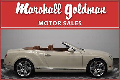 Bentley : Continental GT GTC Convertible 2-Door 2012 bentley continental gtc mulliner magnolia saddle leather nav 5 800 miles