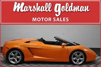 Lamborghini : Gallardo Spyder Convertible 2-Door 2008 lamborghini gallardo spyder pearl orange w black leather only 7900 miles