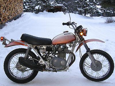 Honda : Other 1971 honda sl 350 k 1 sl 350 k 1 motosport 350 candy topaz orange mfd april 1971