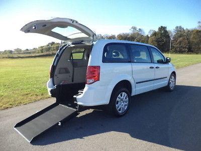 Dodge : Caravan Handicap Wheelchair Accessible 2016 white handicap wheelchair accessible rear entry