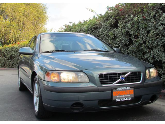 Volvo : S60 4dr Sdn 2.4L Used 03 Volvo Alloy Wheels Power Seat Green Moon Roof Low Miles Leather