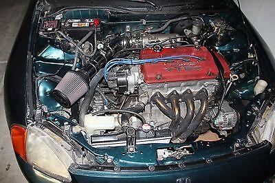 Honda : Del Sol Si 1997 honda del sol with 2000 jdm h 22 a euro r motor 220 hp stock