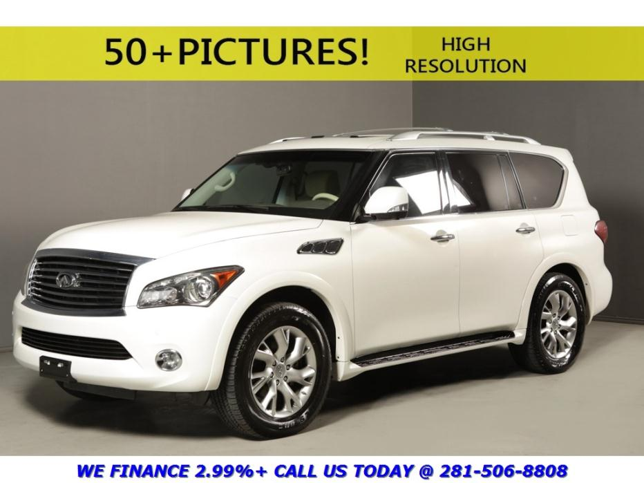 Infiniti : QX56 2012 NAV SUNROOF LEATHER TECH 360CAM XENONS 7PASS 2012 infiniti qx 56 nav sunroof leather tech 360 cam xenons 7 pass pearl white tan