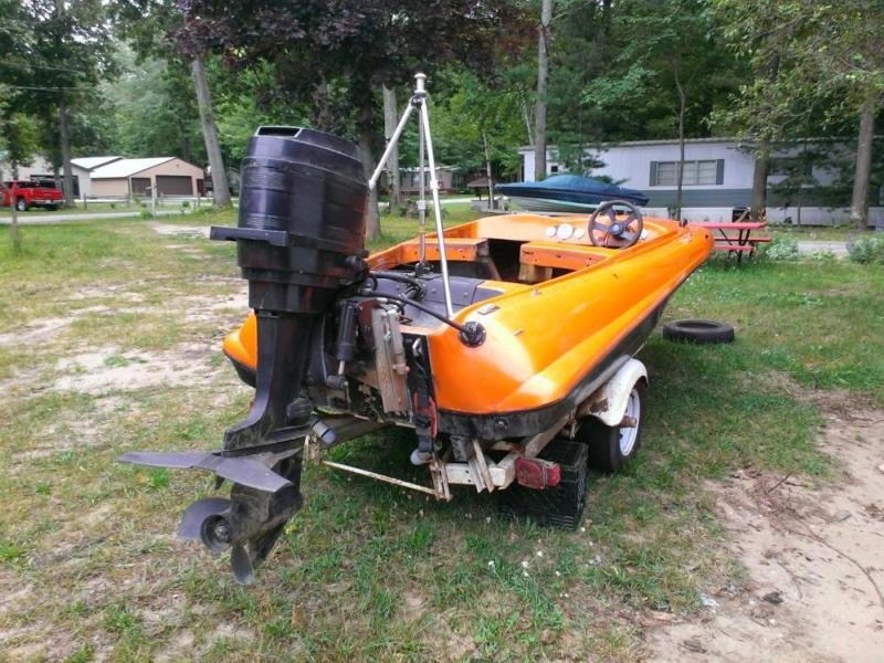 80 HP mercury with speed boat and trailer