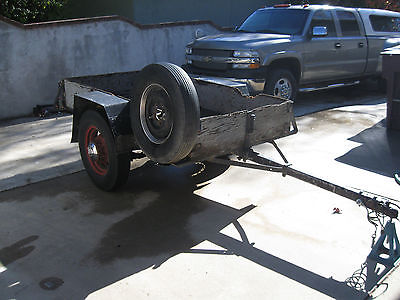 1935 1936 Vintage Antique Utility Trailer Ford Wire Spoke Wheels 7 foot