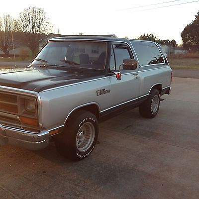 1989 Dodge Ramcharger Cars For Sale