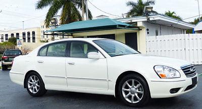Infiniti : Q45 4dr Sedan 2005 infiniti q 45 premium pearl white low miles very rare florida