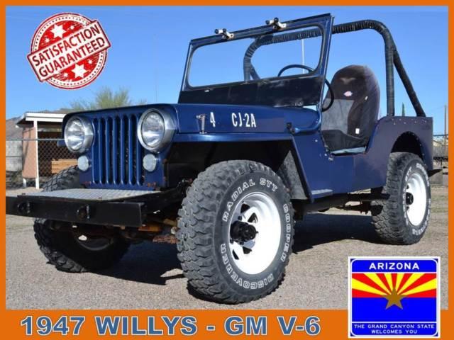 Willys CJ Jeep 1947 jeep willys flatfender offroad 4 x 4 4 wd rock snow mud classic