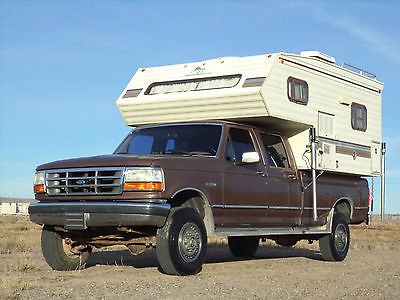 Ford : F-350 Crew Cab 1992 ford f 350 xlt 4 wd crew cab grampa s truck rv camper make offer