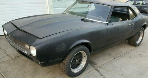Chevrolet : Camaro Base coupe 2 door 1968 chevrolet camaro roller project was v 8 327 5 speed 10 bolt rear end rat rod