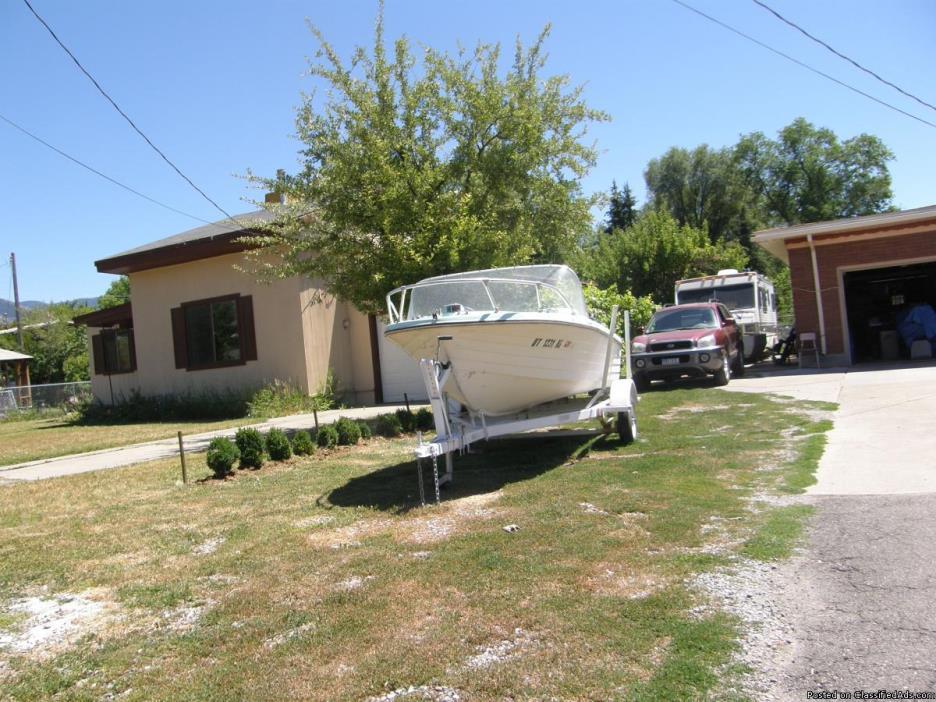15 ft fiberglass outboard boat,trailer,35hp motor