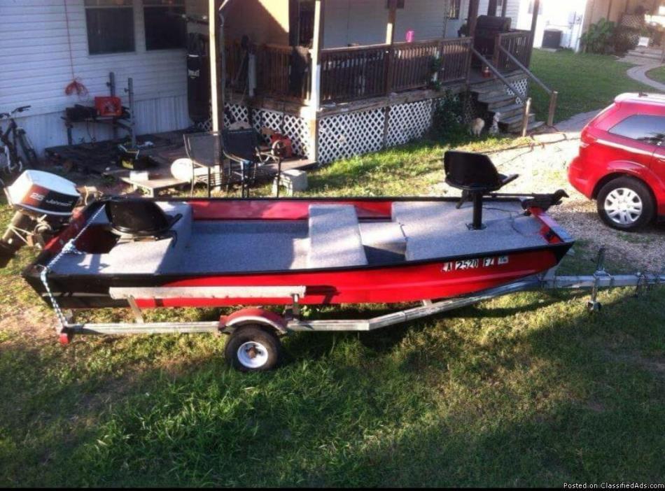 Shop made boat trailer