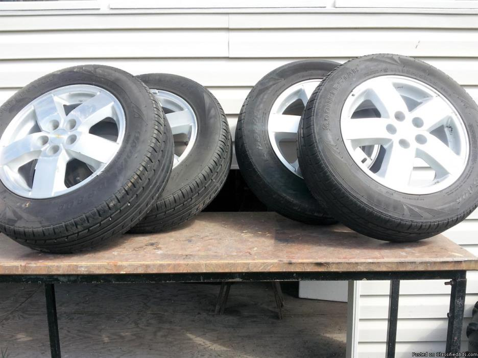2005 chevy cavalier 4 tires on rims