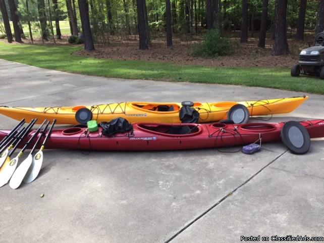 (2) Wilderness System Touring Kayak Outfits