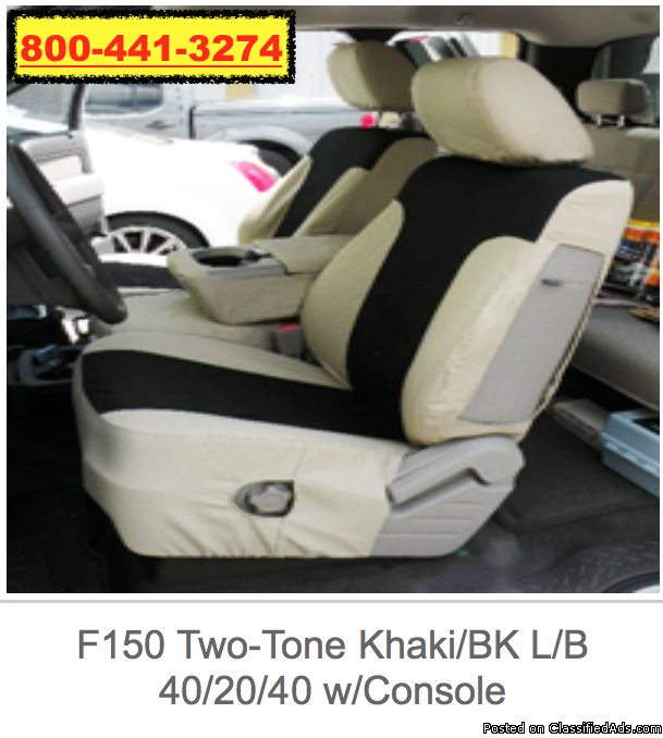 F150 Custom Canvas 2 Toned Seat Covers