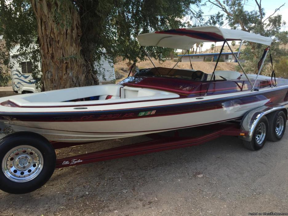 1993 HOWARD 21 FT Cruiser Jet Boat w/ Trailer