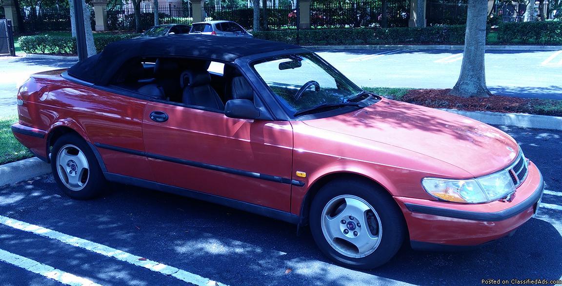 1998 Saab 900 S, convertible, manual transmission