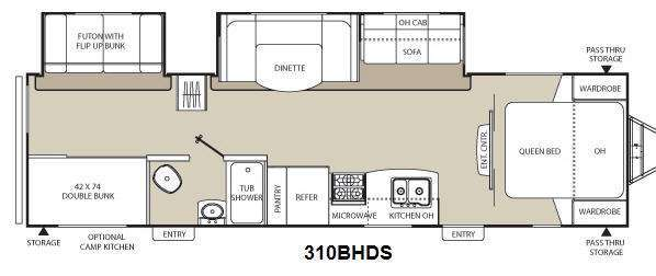 2014 Coachmen Rv Freedom Express 310BHDS