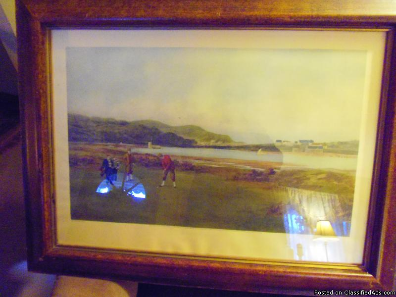 Oldest Known Golf Lithograph  ( 122 yrs old ) St.  Andrews