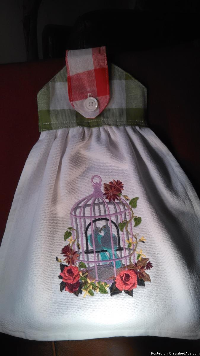 Gorgeous Hanging Embroidered Tea Towel 3