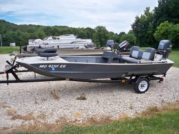 Jon boat steering console boats for sale for Jon boat with jet motor