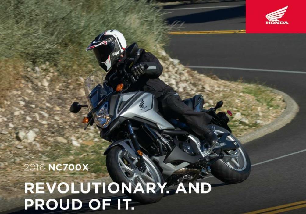 2016  Honda  NC700X DCT ABS
