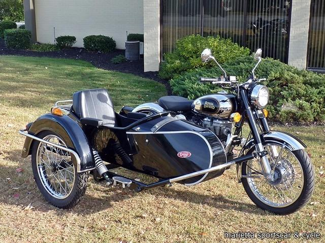 royal enfield classic chrome w sidecar motorcycles for sale. Black Bedroom Furniture Sets. Home Design Ideas