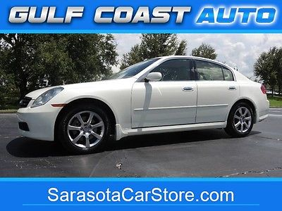 2006 Infiniti G35x Sedan AWD! TAN LEATHER! SUNROOF! CARFAX! SUPER CLEAN! SH 2006 Infiniti G35x Sedan AWD! TAN LEATHER! SUNROOF! CARFAX! SUPER CLEAN! SH 9210