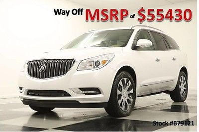 2017 Buick Enclave MSRP$55430 AWD Premium Sunroof DVD GPS White New Navigation Heated Cooled Choccachino Leather 15 16 2016 17 Camera Captains