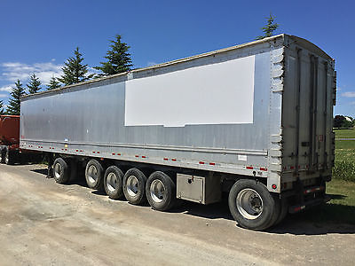 2005 Manac aluminum walking floor trailer, live floor