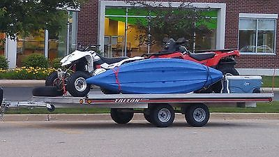Triton Elite aluminum snowmobile or atv trailer 101