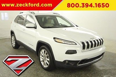 2016 Jeep Cherokee Limited 2.4L I4 Automatic FWD Leather Seats Reverse Camera Bluetooth Aluminum Wheels
