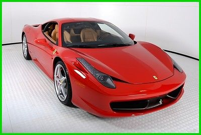 2014 Ferrari 458 Base Coupe 2-Door 2014 FERRARI 458 ITALIA, ROSSO CORSA OVER BEIGE, 4K MILES, FERRARI APPROVED CPO
