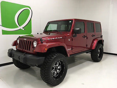 2013 Jeep Wrangler Rubicon Deep Cherry Red Crystal Pearl Jeep Wrangler Unlimited with 53,438 Miles availabl