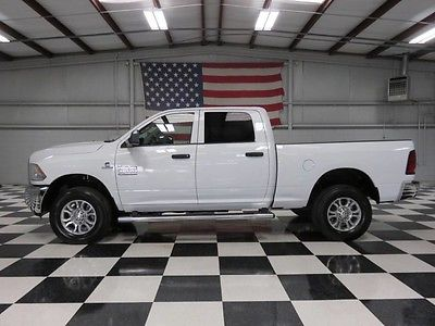 2013 Dodge Ram 2500  1 Owner White Crew Cab 6.7 Cummins Auto Warranty Financing Cloth Clean Chrome