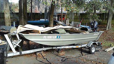 12' SeaArk Aluminum Jon Boat with galvanized trailer & 3.5 hp motor