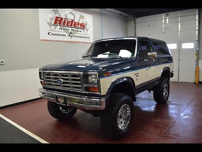 1986 Ford Other Pickups -- 1986 Ford Bronco XLT 2dr  32,150 Miles Blue/White  5.0L V8 OHV 16V FI Engine Aut