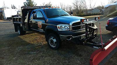 2008 Dodge Ram 5500 SLT Cab & Chassis - Crew Cab 4-Door 2008 Dodge 5500 quad-cab mason dump truck 4x4
