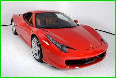 2014 Ferrari 458 Base Coupe 2-Door 2014 FERRARI 458 ITALIA, ROSSO CORSA OVER CUOIO, 2300 MILES,FERRARI APPROVED CPO