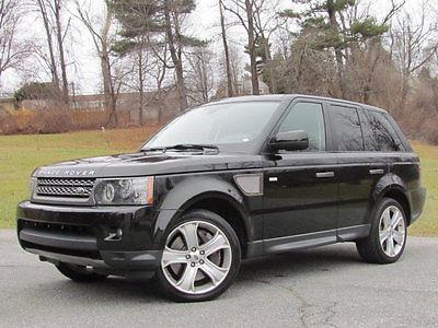 2010 Land Rover Range Rover Sport 4WD 4dr SC RANGE ROVER SPORT SC SUPER CHARGED BLACK NAVIGATION CLEAN CARFAX 2010