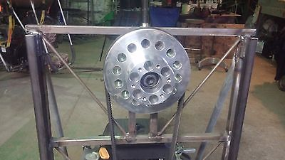 airboat engine frame and pulley