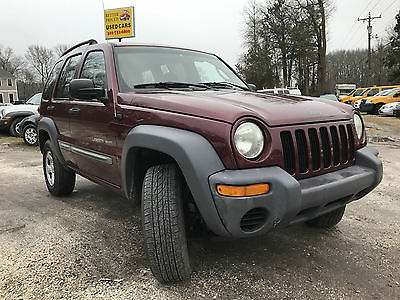 2003 Jeep Liberty Sport Sport Utility 4-Door 2003 Jeep Liberty SUV Sport 4X4 Family 5 Speed Manual 4WD 3.7L NICE LOW RESERVE