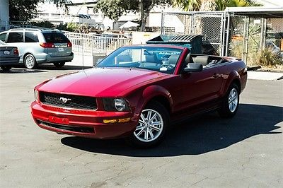 2008 Ford Mustang V6 Deluxe 2008 Ford Mustang V6 Deluxe 51276 Miles Red 2D Convertible 4.0L V6 SOHC 5-Speed