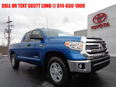 2017 Toyota Tundra New 2017 Tundra SR5 Double Cab 4x4 5.7L V8 Blue New 2017 Tundra SR5 Double Cab 4x4 5.7L V8 Blazing Blue Bedliner 4WD Camera