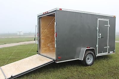 Trailer 6x12 Enclosed USA Cargo V Nose Motorcycle Utility Construction 10 2017