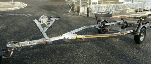 BOAT TRAILER -Caulkins galvanized roller trailer for 16 to 20 ft boat